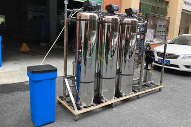 1.5TPH Hard Water Softener System / Treatment Systems With Stainless Steel Tank
