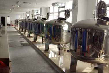 China Mirror Polish Water Treatment Accessories SS304 SS316 Stainless Steel Filter Tank  /  Pre Treatment Tank factory