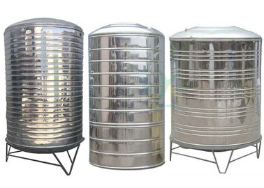 China Round Insulated Stainless Steel Water Tank / 304 Cold Water Storage Equipment Customized factory