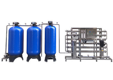 China Blue Fiber Glass 3TPH Water Softener System For Underground Water Purification factory