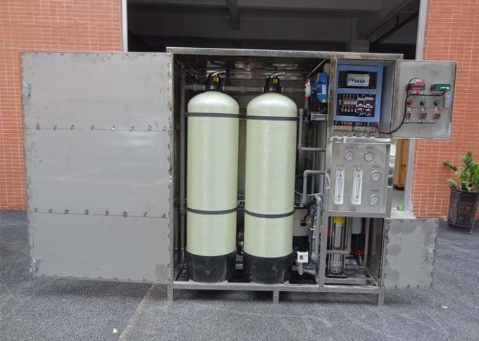 Fully CLose Reverse Osmosis Equipment SS Box Type Water Purifier Plant With Wheel Easy Moving
