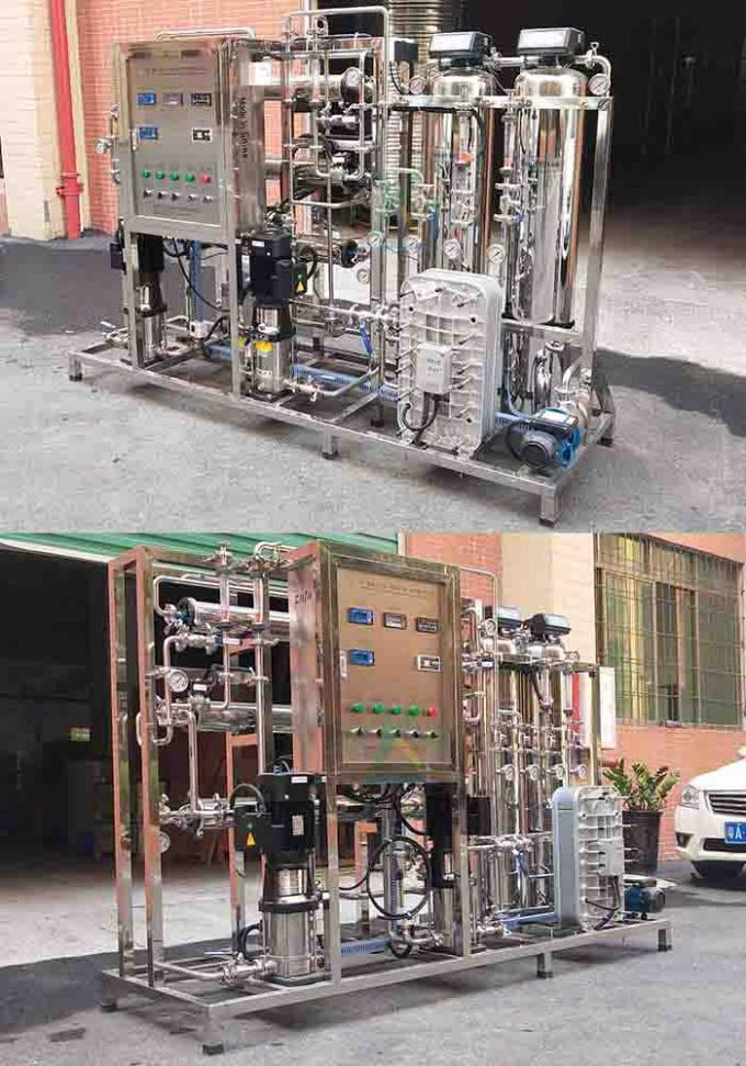 250L/H RO EDI Machine For Dialysis / Distill Water With Sand Carbon Cartridge